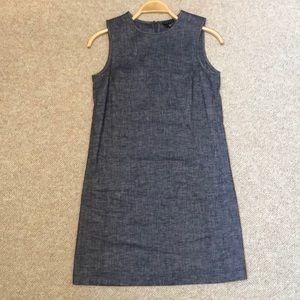 Theory linen A line back zip sleeveless dress